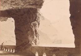 Tunnel Sur La Route De L Axen Suisse Ancienne Photo Carte De Visite 1870 - Photographs