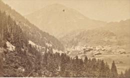 Village D Aigle Le Sepey & Le Mont D'Or Suisse Ancienne Photo Carte De Visite 1870 - Photographs