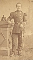 Jean Lallement Capitaine Second Empire Armée France Ancienne Photographie CDV 1865 - Photographs