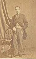 Patier Capitaine Au 40 De Ligne Second Empire Armée France Ancienne Photographie CDV 1865 - Photographs