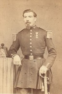 Jalabert Capitaine 40 De Ligne Second Empire Armée France Ancienne Photographie CDV 1865 - Photographs
