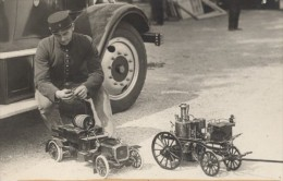 Sapeurs Pompiers Exposition Du Feu Paris France Ancienne Photo 1931 - Unclassified