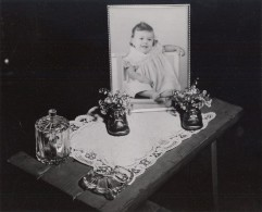 Maine WWII Baby Portrait US Army Airfield Presque Isle Photo 1943 - Guerre, Militaire