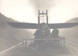 France WWI Avion Hanriot Transporté Par Train Vapeur Ancienne Photo 1916 - Aviation