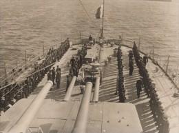 Brest Amiral Darlan Inspecte Le Croiseur Ecole Jeanne D'Arc France Ancienne Photo Presse 1938 - Photographs