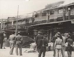 Marseille Huilerie Incendie Boulevard Oddo France Ancienne Photo Presse 1938