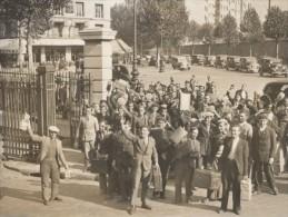 WWII Paris Demobilisation Des Reservistes Gare De L Est Ancienne Photo Octobre 1938 - War, Military