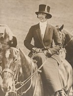 Marquise Italienne Violette Godi Di Godio Chasse Au Renard Ancienne Photo 1938 - Other