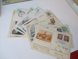 Deutsches Reich Privatganzsachen / GA. 1930er Jahre. 12 Stk. Sonderstempel. MÜPA / Ausstellungen / Philatelistentag - Briefmarken