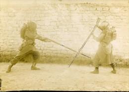 Entrainement Militaire Combat Baionnette Au Fusil France Ancienne Photo 1900