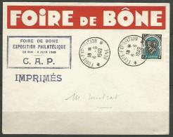 LETTRE ALGERIE FOIRE DE BONE AVEC N� 268