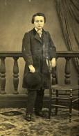 Enfant Costume Mode Paris France Ancienne Photo CDV Anonyme 1870