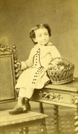 Enfant Costume Mode Paris France Ancienne Photo CDV Samson 1870 - Photographs