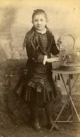 Enfant Costume Mode Douai France Ancienne Photo CDV Carette 1870 - Photographs