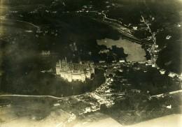 WWI Pierrefonds Château Panorama France Ancienne Photo 1917 - Aviation
