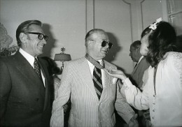 Festival De Cannes William Holden & Billy Wilder Cinema Ancienne Photo Presse 1980 - Photographs