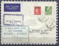 LETTRE ALGERIE AVEC N� 183 ET 228