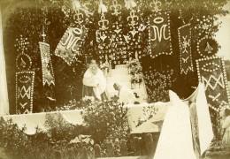 Religion Procession De La Fete Dieu Monce En Belin 72230 Ancienne Photo Amateur 1911 - Photographs