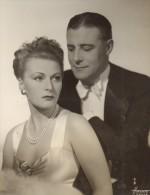 Cinema Film France Acteur Henri Garat & Actrice Ancienne Photo Harcourt 1940 - Photographs