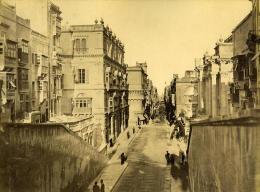 Malte Rue Royale & L'Armurerie 2 Photos Anciennes Agius Recto/Verso 1885 - Photographs