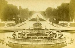 France Paris Versailles Chateau Bassin Latone Ancienne Photo Carte Cabinet Debitte & Hervé 1875 - Photographs
