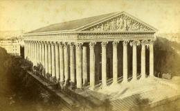 France Paris Eglise De La Madeleine Ancienne Photo Carte Cabinet Debitte & Hervé 1875 - Unclassified