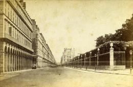 France Paris Rue De Rivoli Ancienne Photo Carte Cabinet Debitte & Hervé 1875 - Non Classés