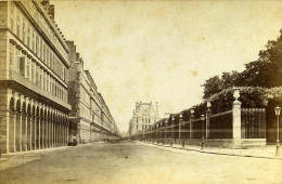 France Paris Rue De Rivoli Ancienne Photo Carte Cabinet Debitte & Hervé 1875 - Photos