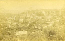 France Grasse Panorama Ancienne Photo Carte Cabinet 1875