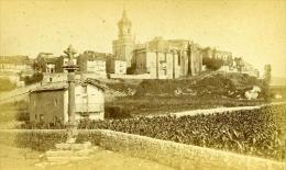 Espagne Fuentarrabia Panorama Ancienne Photo Carte Cabinet 1875 - Photographs