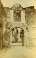 Espagne Fuentarrabia Porte De La Cité Ancienne Photo Carte Cabinet 1875 - Photographs