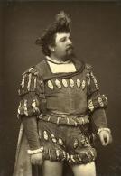 France Theatre Acteur En Habit De Scène Ancienne Photo Photoglyptie 1880 - Unclassified