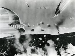 Japon Cinema Ishiro Honda Film Kaiju Eiga Rodan Ancienne Photo 1956 - Photographs