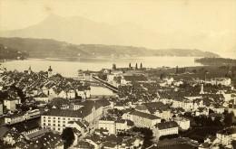 Suisse Lucerne Panorama Ancienne Photo Cabinet Garcin 1870 - Photographs