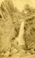 USA Colorado Ute Pass Rainbow Falls Ancienne Photo Cabinet Jackson 1870 - Photographs