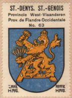 Wapenzegel Koffie Hag / Vignette (Blason, Armoiries) Café Hag : Sint-Denijs - Old Paper