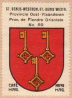 Wapenzegel Koffie Hag / Vignette (Blason, Armoiries) Café Hag : Sint-Denijs-Westrem - Old Paper