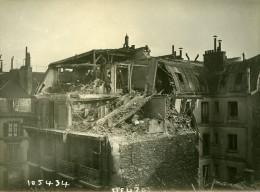 Paris Rue De Mezieres WWI Raid Aerien Par Avions Gotha Ancienne Photo Branger 1918 - War, Military
