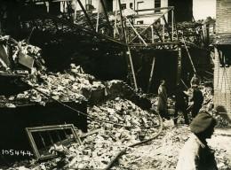 Paris Rue Du Faubourg Du Temple WWI Raid Aerien Par Avions Gotha Ancienne Photo Branger 1918 - War, Military