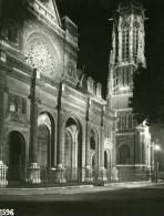 France Paris De Nuit Saint Germain L Auxerrois Ancienne Photo Borremans 1937 - Photographs