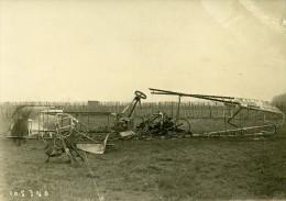 France Environ De Paris Aviation WWI Avion Gotha Détruit Ancienne Photo Branger 1918 - War, Military