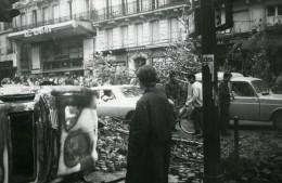 France Paris Boulevard Saint Michel Quartier Latin Ancienne Photo Mai 1968 - Photographs