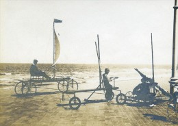 Belgique Middelkerque Course De Char à Voile Sur La Jetée Ancienne Photo 1900 - Foto's