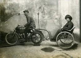 France Paris Mr & Mme Mercier Et Leur Merveilleuse Motocyclette Ancienne Photo Delaporte 1911 - Photographs