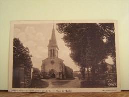 SAINT-REMY-DE-CHARGNAT (PUY-DE-DOME) PLACE DE L'EGLISE. - Altri Comuni