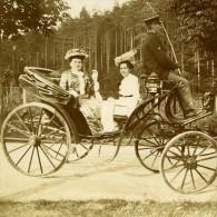 France Moselle Philippsbourg Cheval Dames Cocher Caleche Ancienne Photo Amateur 1901 - Photos