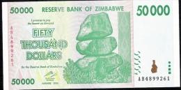 ZIMBABWE   P74   50.000  DOLLARS    2008    UNC. - Zimbabwe