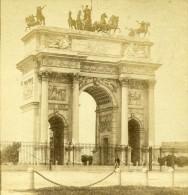 France Paris Arc De Triomphe Ancienne Demi Stereo Photo 1860