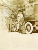 France Un Dimanche à La Campagne Voiture Automobile Ancienne Photo 1905 - Altri