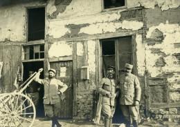 France WWI Soldat Murat Devant Son Laboratoire Brancardiers Ancienne Photo 1915 - Photographs